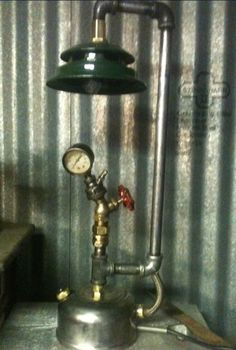 Vintage Industrial Steampunk Lamp by SantysAwesomeShop on Etsy, $325.00
