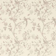 Summer Palace Dove Grey Floral Wallpaper at Laura Ashley