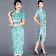 Shop elegant silk cheongsam, traditional Chinese red bridal dresses, sexy modernize Qipao from www.ModernQipao.com. Save 6% by share our products. Turquoise blue traditional silk qipao Chinese cheongsam dress