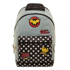 Dc comics wonder woman denim backpack w/ patches (2,800 PHP) ❤ liked on Polyvore featuring bags, backpacks, star backpack, zip backpack, rucksack bag, patch backpack and day pack rucksack