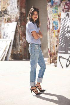 Leandra Medine for RAYE Shoes