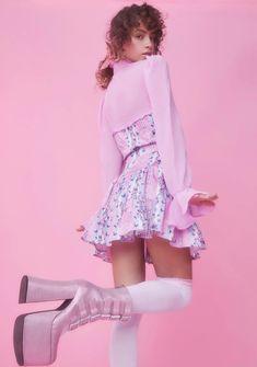 Quirky Fashion, Kawaii Fashion, Pink Fashion, Fashion Outfits, Pink Outfits, Cute Outfits, Fashion Portfolio Layout, Kawaii Clothes, Festival Outfits