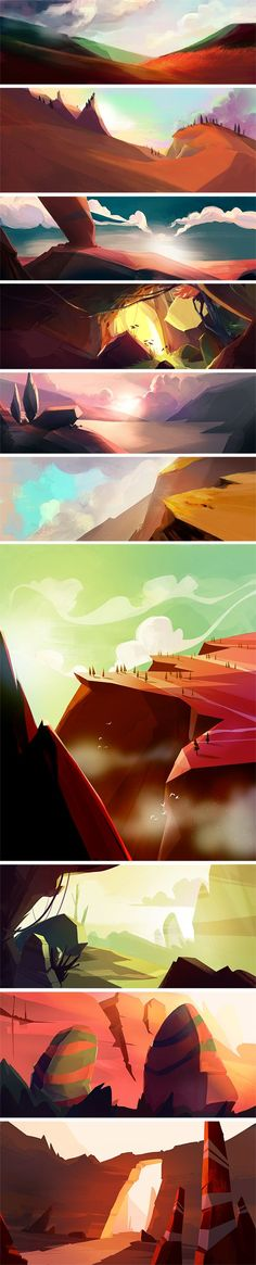 Landscape by Vivien Bertin, via Behance
