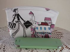 Girls Love to Shop Cosmetic Bag Clutch Zipper by Antiquebasketlady, $13.00