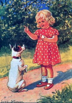 Jenny Nyström, Tyttö ja koira -