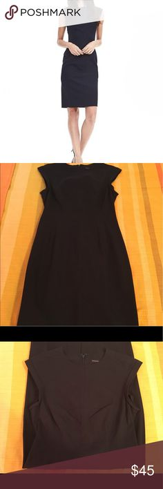NWOT Banana Republic Bi-Stretch Crew Sheath Dress Never worn - perfect black sheath for dressing up or down. Pretty stitching on front see picture of red/orange version of the same dress. Banana Republic Dresses