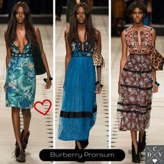 Prints from the Burberry show! #LFW
