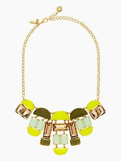 "So ""chartreuse"" : varadero tile necklace"