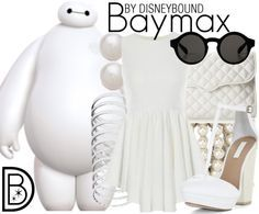 Disney Bound: Baymax from Disney's Big Hero 6 Disneybound Outfits, Disney Themed Outfits, Disney Inspired Fashion, Character Inspired Outfits, Disney Dresses, Disney Fashion, Disney Clothes, Fandom Fashion, Geek Fashion