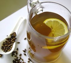 Barley Tea - popular drink in Japan and Korea that helps with congestion Asian Recipes, My Recipes, Ono Kine Recipes, Cocktail Recipes, Cocktails, Popular Drinks, Tea Cookies, Recipe Filing, Drinking Tea