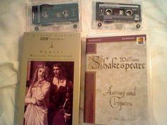 Hamlet, Antony and Cleopatra by William Shakespeare, Audio Cassette book on tape