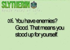 Slytherin House Pride Amen to that.