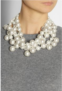 Not your grandmother's pearls! Love this.