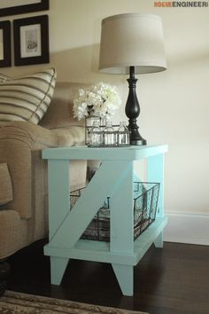 shabby chick retro - Narrow Cottage Side Table Plan
