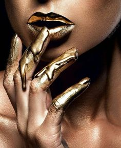 Dripping in (Molten) Gold - Makeup Artist Vlada Haggerty Takes Lip Art to the Next Level - Photos