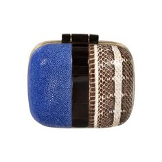 Valentines Day? <3  Blue Two-Tone Box Clutch - Clutches - Accessories | 30PonteV.com