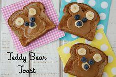 Teddy Bear Toast on Weelicious.