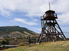 Helena Montana is the capital city of the state of Montana, located in North central United States. The town of Helena was begun in after the discovery of Helena Montana, Lookout Tower, Tower House, Big Sky Country, Capital City, Wyoming, Fire, Places, Vacation