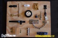 Build fine motor skills with a latch board DIY
