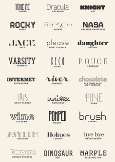 lmnpnch: More favourite fonts (a resource list): higher Ecommerce Webdesign, Webdesign Layouts, Typography Letters, Calligraphy Fonts, Hand Lettering, Graphisches Design, Logo Design, Monogramm Alphabet, Tattoo Wort