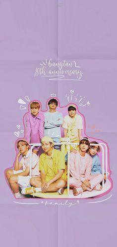 8th Anniversary, Bts Lockscreen, Bts Wallpaper, Movie Posters, Movies, Wallpapers, Army, Kpop, Flower
