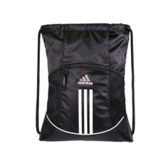 adidas Alliance Sporty Sackpack Collegiate Sports DayPack Bag Drawstring Back BL