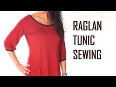 ▶ How to make a ragalan tunic / sewing jersey stretch fabric / how to sew T shirt - YouTube