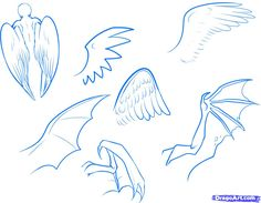 How to Draw Anime Wings, Draw an Anime Angel, Step by Step, Anime Males, Anime, Draw Japanese Anime, Draw Manga, FREE Online Drawing Tutorial, Added by Dawn, March 4, 2011, 1:52:29 am