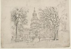 Study for 'Independence Hall, Philadelphia', 1957, Herbert S. Pullinger