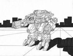 Mammoth BattleMech by AceDarkfire on deviantART