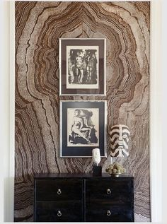 Love the book-matched stone wall!!!  Gabriel Hendifar (from elementsofstyleblog.com)