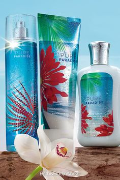 REPIN our NEW Pure Paradise™ for your chance to WIN! Discover fresh, sexy, paradise with our NEW summer-chic blend of sparkling star fruit & ocean-kissed frangipani blossoms … it's paradise in a bottle! See board header for details. #BBWPureParadise