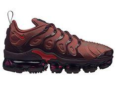 online store 704bd ab39a NIKE Air Vapormax Plus - Women s Burnt Orange Habanero Red Burgundy Crush  Nylon Running Shoes 9 B(M) US