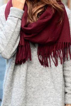 Maroon scarf <3