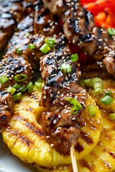 Yakitori (Japanese Grilled Chicken Skewers) Vegetarian Grilling, Healthy Grilling Recipes, Low Carb Dinner Recipes, Barbecue Recipes, Barbecue Sauce, Tasty Meals, Best Chicken Recipes, Veggie Recipes, Asian Recipes