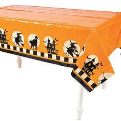Halloween Silhouette Tablecloth - OrientalTrading.com