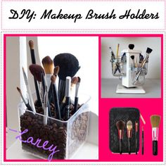 """""""DIY: Makeup Brush Holders"""" by teen-tips-for-all on Polyvore"""