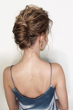 Gorgeous & Super-Chic Hairstyle That's Breathtaking romantic updo hairstyles, updo hairstyle,simple Braided Hairstyles Updo, Mohawk Updo, Bun Updo, Chic Hairstyles, Short Hair Updo, Elegant Hairstyles, Beautiful Hairstyles, 1950s Hairstyles, School Hairstyles