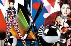 Vogue UK is featuring supermodel Natalia Vodianova for the December 2012 issue. The editorial was shot by Mario Testino and showcases a pop art inspired fashion story.