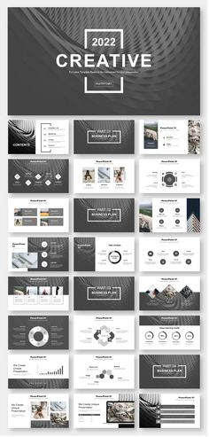 layout-ideen Black & White Simple Business Report PowerPoint Template – Original and high quality Po Ppt Design, Design Powerpoint Templates, Template Web, Slide Design, Layout Design, Flyer Template, Booklet Design, Graphic Design, Report Template