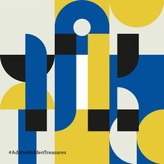 Adobe Hidden Treasures: Bauhaus Dessau Initials Hamburg on Behance Geometric Graphic Design, Graphic Design Layouts, Graphic Design Posters, Graphic Design Typography, Geometric Art, Graphic Design Illustration, Graphic Design Inspiration, Design Art, Logo Design