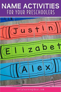 Crayon Name Puzzles