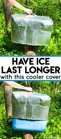 Have Ice Last Longer with this DIY Insulated Ice Chest Cooler Cover Tutorial - Extend the life of the ice in your cooler while outdoors with this DIY insulated cooler cover. It is easy to make and perfect for camping, parties or hot days outside.
