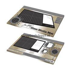 Scrapbookdepot - Tim Holtz Glass Media Mat Tonic Studios Tools - T1914E - Tonic Studios - Gereedschap