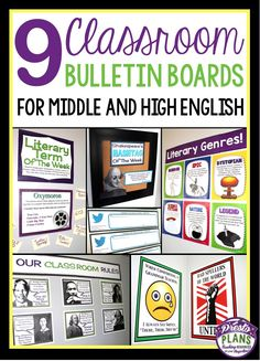 9 Classroom Bulletin Board Ideas For Middle and High English