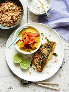 Peter Kuruvita's Sri Lankan fish curry with coconut sambal for Masterchef coobook. Photography by Tanya Zouev. Styling by Sarah O'Brien.