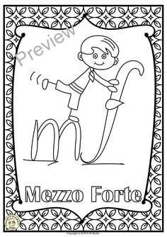 Let your kids decorate your classroom with these music symbol signs! These will be a hit with your students and will also help them to remember the dynamics symbols used in music. This is a set of 22 Music Posters for coloring. Learning Music Notes, Teaching Music, Music Education, Happy Birthday Music, Music Lessons For Kids, Music Symbols, Class Decoration, Music Decor, Music Activities