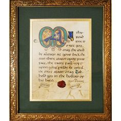 Irish Blessing Matted and Framed Print, 8 x 10, $52.95.