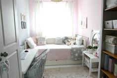 My little white Home: Pastelowy pokój nastolatki Baby Bedroom, Girls Bedroom, Bedroom Decor, Pastel House, White Houses, New Room, Girl Room, Small Spaces, Toddler Bed