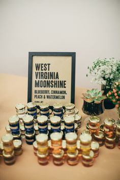 West Virginia moonshine in jars! Photo: M Lindsay Photography